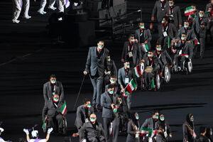 عکس/ ماسکهای متحدالشکل نمایندگان ایران در رژه پارالمپیک