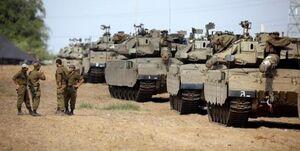 استقرار خودروهای زرهی و تکتیراندازن اسرائیل در مرز غزه +فیلم