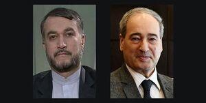 تبریک وزیر خارجه سوریه به امیرعبداللهیان