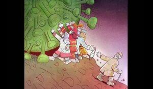 فیلم/ استقبال جهانی از آثار کاریکاتوریست مشهدی