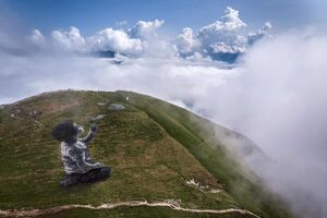 عکس/ نقاشی غول پیکر در سوئیس