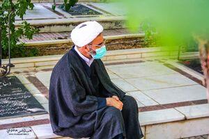 حضور نماینده ولی فقیه سمنان در مزار شهدای شاهرود +عکس