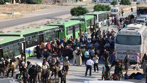 بن بست برای مزدوران آمریکایی و انگلیسی در جنوب سوریه با ورود اتوبوسهای سبز/ جزئیات انتقال گروههای مسلح از درعا به مناطق اشغالی استانهای حلب و ادلب + نقشه میدانی و عکس