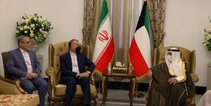 رایزنی وزرای خارجه ایران و کویت در حاشیه نشست بغداد +فیلم