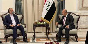 جزئیات دیدار امیرعبداللهیان با رئیس جمهور عراق
