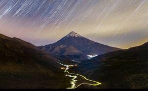 عکس/ رد ستارگان در آسمان دماوند