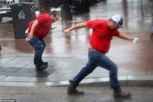 عکس/ طوفان هزاران نفر از لوئیزیانا آمریکا را فراری داد