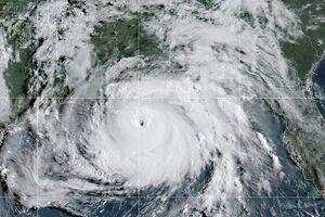 تصویر ماهوارهای از طوفان آیدا