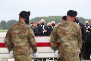 عکس/ بازگشت تابوت سربازان تروریست آمریکایی از افغانستان