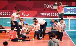 عکس/ پیروزی والیبال نشسته ایران مقابل برزیل