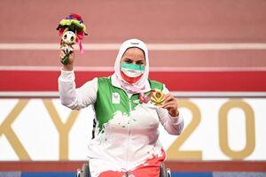 راز اشکهای هاشمیه متقیان در مسابقات پارالمپیک+عکس