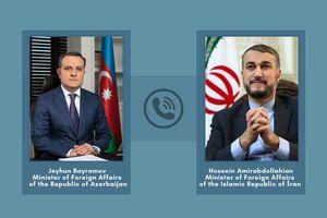 گفتوگوی تلفنی وزیران امورخارجه ایران و جمهوری آذربایجان