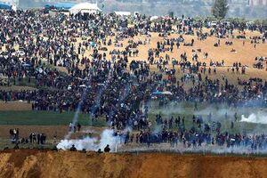 ۳ جوان فلسطینی در تظاهرات مرزی در شرق نوار غزه زخمی شدند