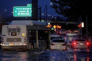 باران سیل آسا در نیویورک قربانی گرفت