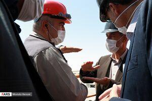 عکس/ بازدید وزیر نیرو از پروژه چاه ژرف