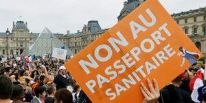 تداوم اعتراضات علیه گذرنامه واکسن کرونا در فرانسه +عکس