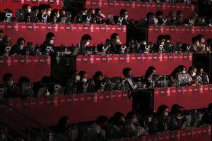 عکس/ حضور خبرنگاران در اختتامیه پارالمپیک