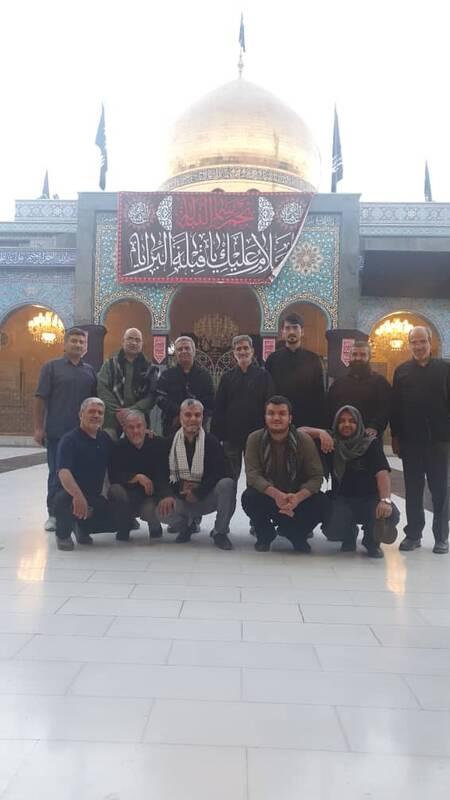 برپایی موکب رزمندگان دفاع مقدس در زینبیه +عکس و فیلم