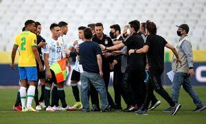 با دخالت پلیس فدرال برزیل؛ دیدار برزیل و آرژانتین متوقف شد