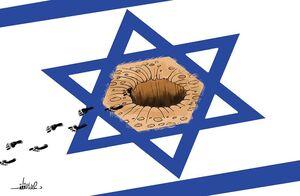 لحظه خروج اسرای فلسطینی از تونل زندان جلبوع +فیلم