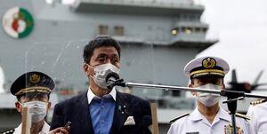 علیرغم هشدار چین ناو هواپیمابر انگلیسی وارد سواحل ژاپن شد