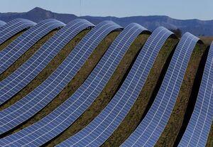 تصاویر هوایی از مزرعه برق خورشیدی چین