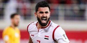 ستاره سوریه در بازی با ایران مصدوم شد