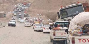 بازگشت دهها آواره به«رحبه» پس از تسلط نیروهای صنعاء +عکس