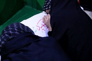 فیلم/ وداع جانسوز دردانه شهید مرتضی کریمی