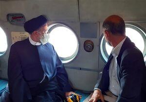 بازدید هوایی رئیس جمهور از معدن زغال سنگ طبس +عکس