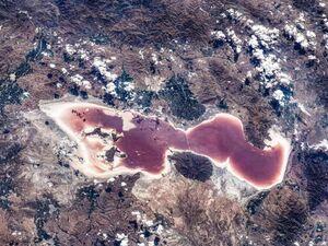 تصویر جدید ایستگاه فضایی چین از دریاچه ارومیه