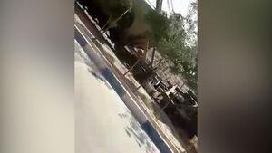 فیلم خروج قطار نفت کش از ریل در شهر قدس +فیلم