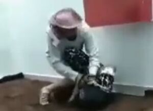 فیلم/ وحشیگری یک سعودی با خدمتکار کنیایی