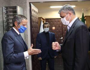 تصویری جالب از دیدار گروسی با اسلامی