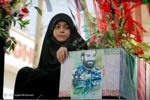عکس/ تشییع پیکر شهید مدافع حرم «مرتضی کریمی»