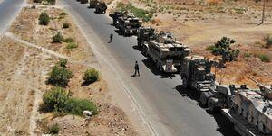 کاروانی از ۵۰ کامیون حامل سلاح و تجهیزات لجستیک آمریکا وارد قامشلی سوریه شد