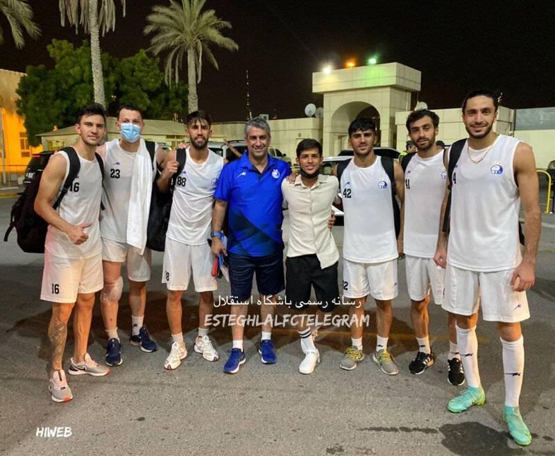حضور قائدی در تمرین استقلال پیش از بازی با الهلال +عکس