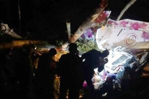 عکس/ سقوط یک هواپیمای روسی در شرق سیبری