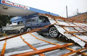 عکس/ گشتی در تگزاس پس از طوفان