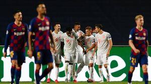 فیلم/ خلاصه بازی بارسلونا ۰ - بایرن مونیخ ۳