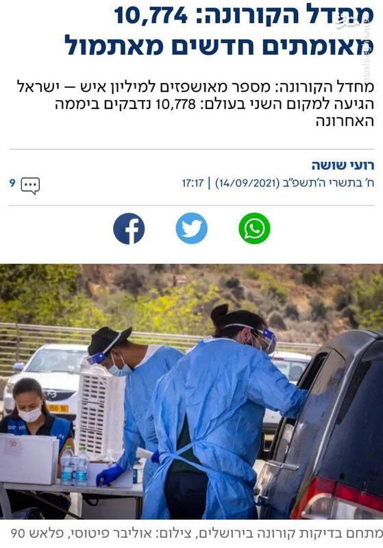 افزایش فزاینده کرونا در اسرائیل با وجود تزریق فایزر