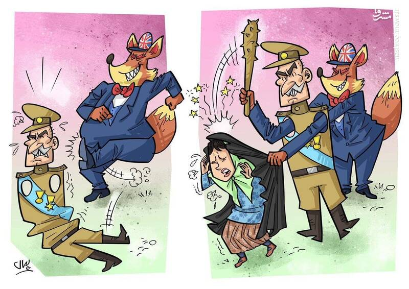 قلدر بی دست و پا به این میگن +کاریکاتور