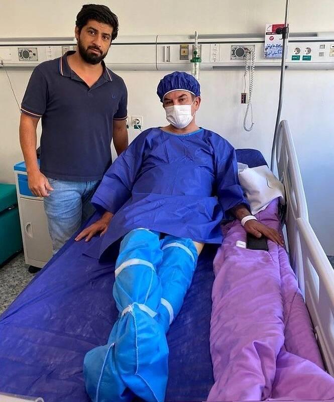 حمید استیلی در بیمارستان بستری شد +عکس