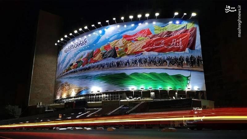 رونمایی از جدیدترین دیوارنگاره میدان ولیعصر تهران