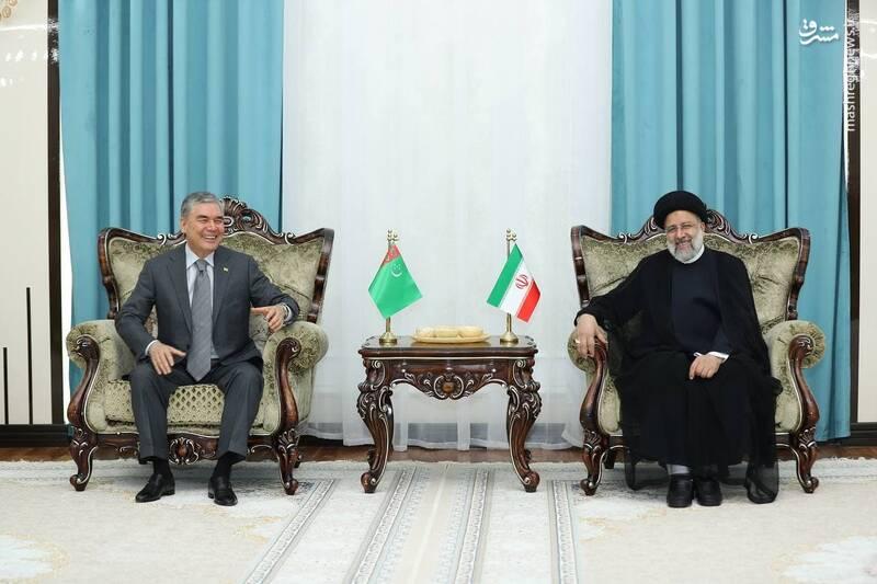 دیدار روسای جمهور ایران و ترکمنستان