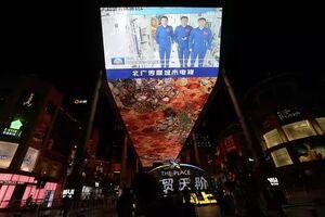 بازگشت فضانوردان چینی به زمین