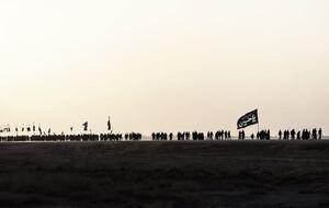 حرکت زائران اربعین به سمت کربلا