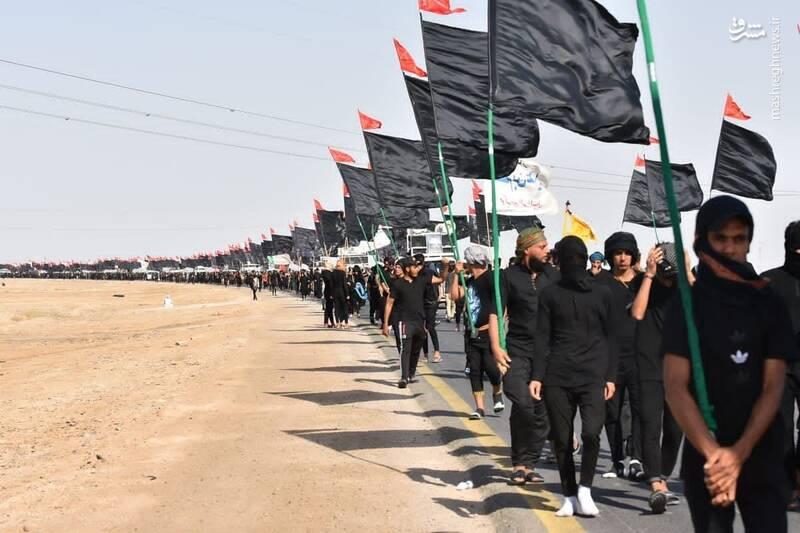 تصاویری ویژه از پیادهروی عراقیها به سوی کربلا