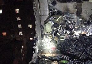 انفجار بامدادی در ساختمان ۷ طبقه مسکونی +تصاویر
