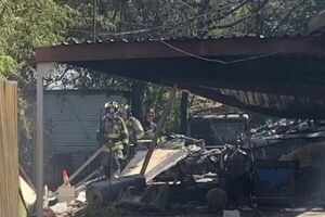 سقوط هواپیمای نظامی در تگزاس آمریکا